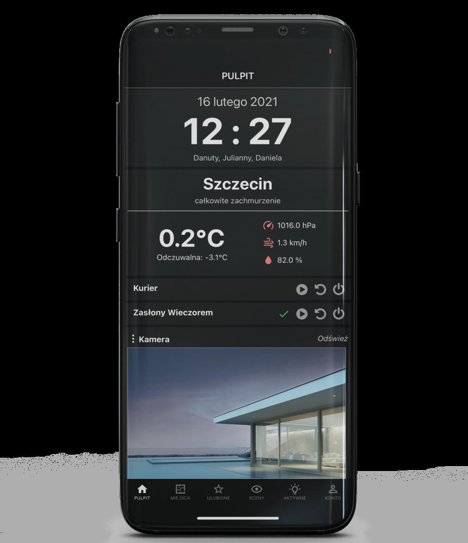 ekran aplikacji na telefon podgląd